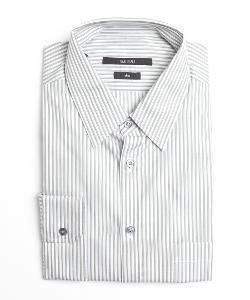 GUCCI  - Striped Cotton Point Collar Dress Shirt