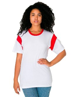 American Apparel  - Contrast Inset Short Sleeve T-Shirt