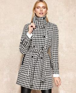 Calvin Klein  - Double-Breasted Houndstooth Coa