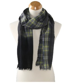 Echo - Dip Dye Plaid Muffler