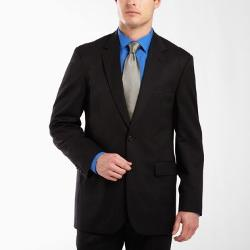 Stafford - Black Stripe Suit Jacket