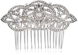 Nina  - Olinda Ornate Interwoven Crystal Hair Comb