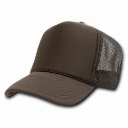 Decky - Brown Mesh Trucker Style Cap