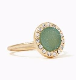 Charming Charlie - Druzy Halo Ring