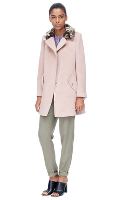 Rebecca Taylor - Leopard Collar Wool Coat