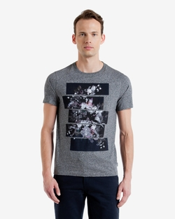 SWOLOW - Split Floral Graphic T-Shirt
