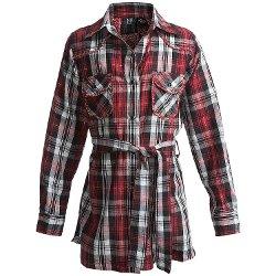 RU Cowgirl  - Crownpoint Plaid Tunic Shirt