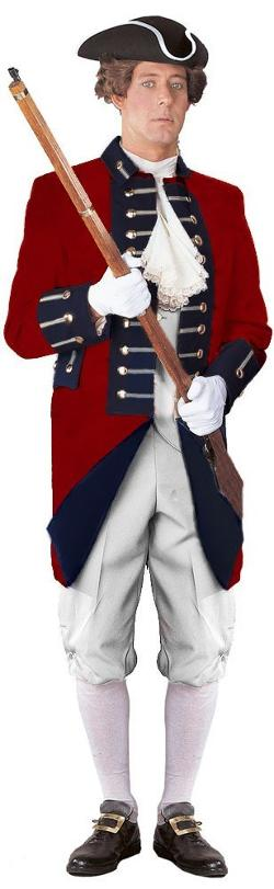 International Costumes, Inc.  - Unisex Adult British Red Coat Revolutionary War Uniform
