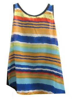 Cotton Candy  - Stripe Chiffon Tank Top