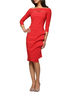 Alex Evenings - Cascading Pleat Sheath Dress