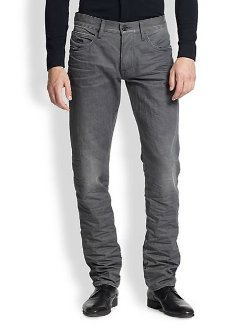 Emporio Armani  - Coated Straight-Leg Jeans