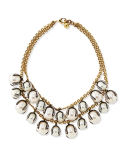 Lulu Frost - Decade Simulated Pearl Statement Necklace