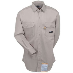 Berne Shirts - Flame Resistant Long Sleeve Khaki Work Shirt