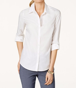 Charter Club - Tab-Sleeve Shirt