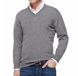 Brunello Cucinelli  - Cashmere V-Neck Pullover Sweater