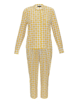 Anya Hindmarch - Smiley-Print Silk Pyjama Set