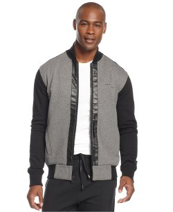 Sean John  - Colorblocked Fleece Bomber Jacket
