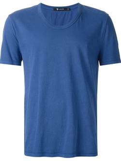 T By Alexander Wang   - Low Neck T-Shirt