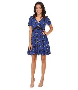 Rebecca Taylor - Short Sleeve Alyssum Print Dress