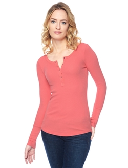 Splendid - Thermal Button Henley Shirt