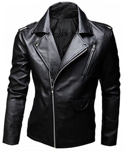 XQS - Leather Punk Moto Jacket