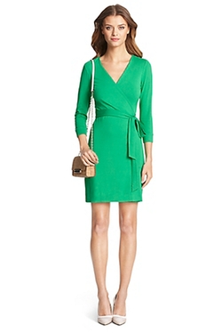 DVF - New Julian Two Mini Jersey Wrap Dress
