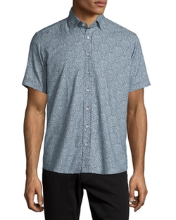 Etro  - Paisley-Print Short-Sleeve Sport Shirt