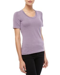 Carolina Herrera  - Short-Sleeve Knit Top