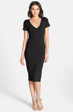 Leith  - V-Neck Body-Con Dress