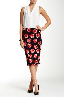 Vince Camuto  - Pull-On Printed Tube Skirt