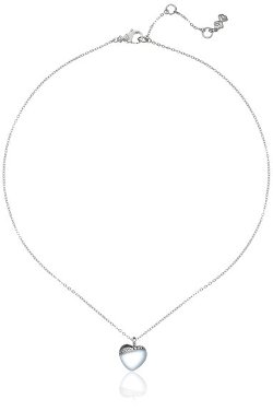 "Skagen - ""Katrine"" Frosted Glass Heart Pendant Necklace"