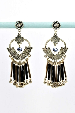 Boohoo  - Violet Statement Tiered Earrings