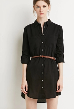 Forever 21 - Contemporary Belted Shirt Dress