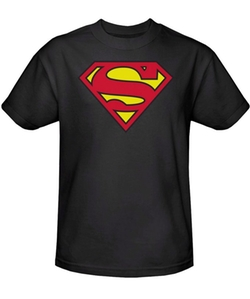 Trevco - Superman Black S-Shield Logo Men