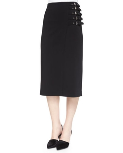 A.L.C.  - Clint Buckled-Side Pencil Skirt