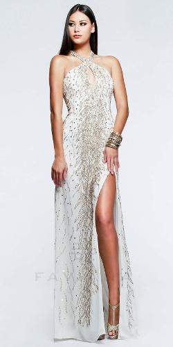Faviana - Keyhole Side Slit Prom Dresses