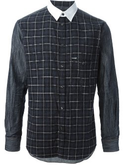 DSQUARED2 - Contrasting Collar Shirt
