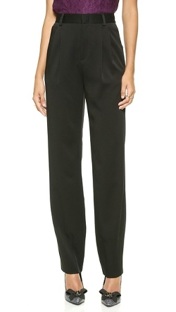 Alice + Olivia - Pleated High Waist Trousers