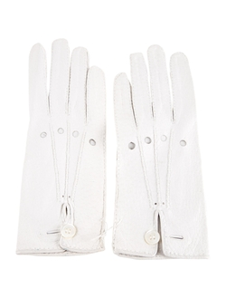 Hermès - Button Closure Leather Gloves