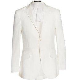 Richard James   - Off-white Slim-fit Linen Suit Jacket