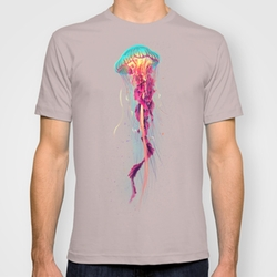 Society6 - Fitted Tee Cinder Jellyfish Shirt