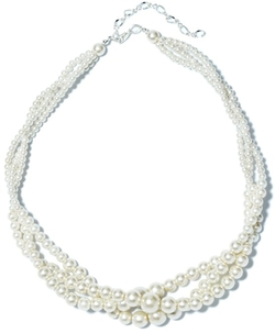 TS - Layer Entangled White Pearl Necklace