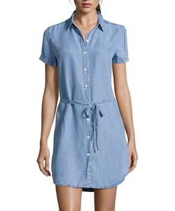 Wyatt  - Chambray Short Sleeve Shirt Dress