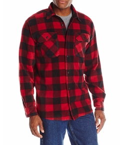 Wrangler - Long-Sleeve Plaid Fleece Shirt