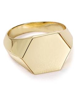 Aqua - Ayda Signet Ring