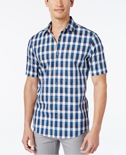 Alfani - Check Short-Sleeve Shirt