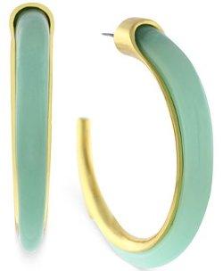 Vince Camuto - Blue Stone Hoop Earrings