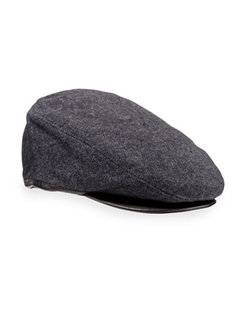 John Varvatos  - Leather-Trim Ivy Cap