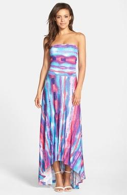 Felicity & Coco  - Strapless Neon Print Maxi Dress