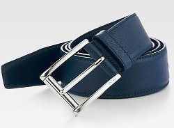 Prada  - Etched Saffiano Leather Belt